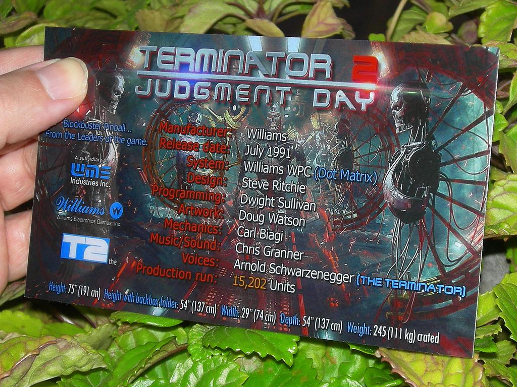 Terminator 2 Custom Pinball Card Crew print2c