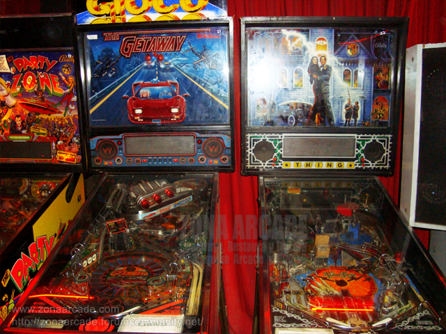 "Pinball ""THE GETAWAY: HIGH SPEED II"" y ""FAMILY ADDAMS"" de WILLIAMS Y BALLY."