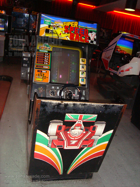 "Máquina recreativa arcade de volante ""SUPER SPEED RACE""."