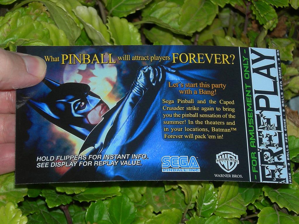 Batman Forever Custom Pinball Free Play print1c