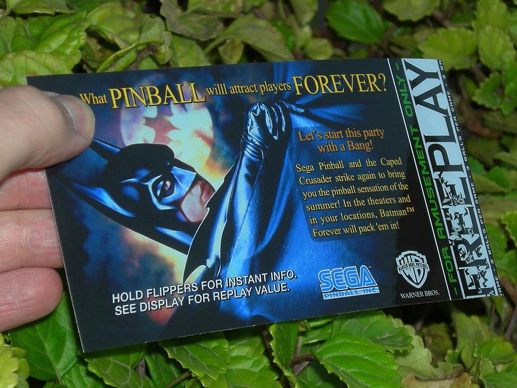 Batman Forever Custom Pinball Free Play print3c