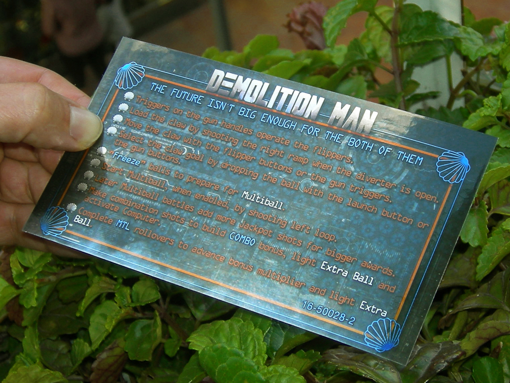 Demolition Man Pinball Card Customized Rules print3