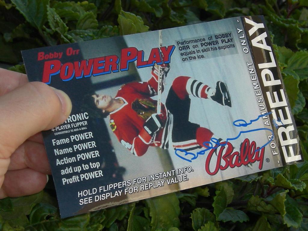 Power Play Pinball Card Customized Free Play print2c