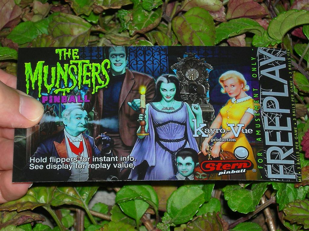 The Munsters Custom Pinball Card Free Play print1c