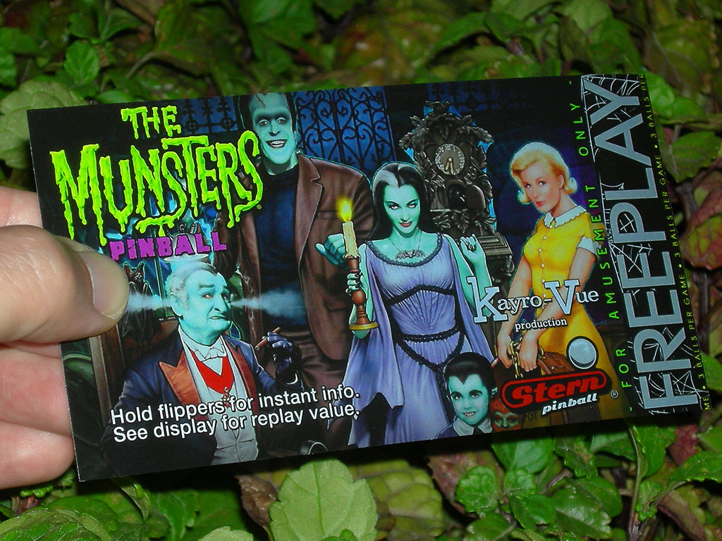 The Munsters Custom Pinball Card Free Play print3c