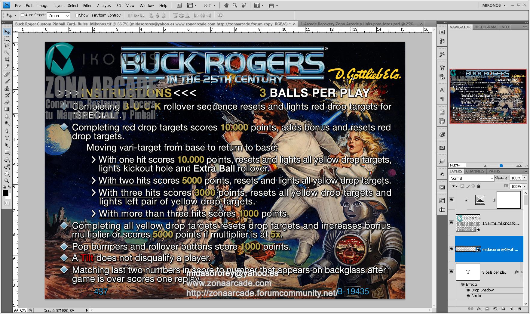 Buck Rogers Pinball Card Customized - Rules. Mikonos1