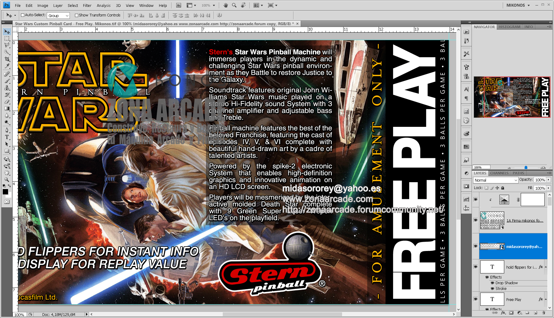 Pinball Cards in High Definition - Custom designs (a Showroom