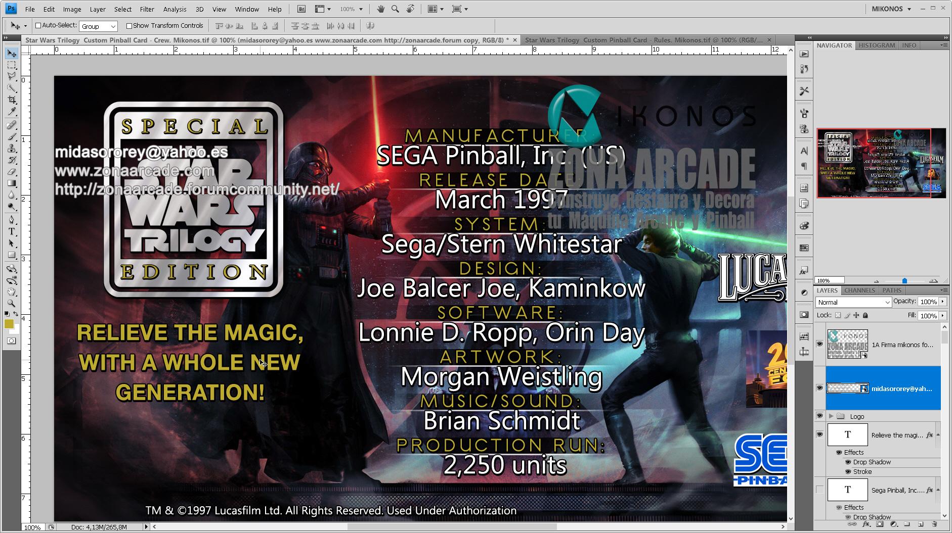 Star Wars Trilogy Pinball Card Customized - Crew. Mikonos2