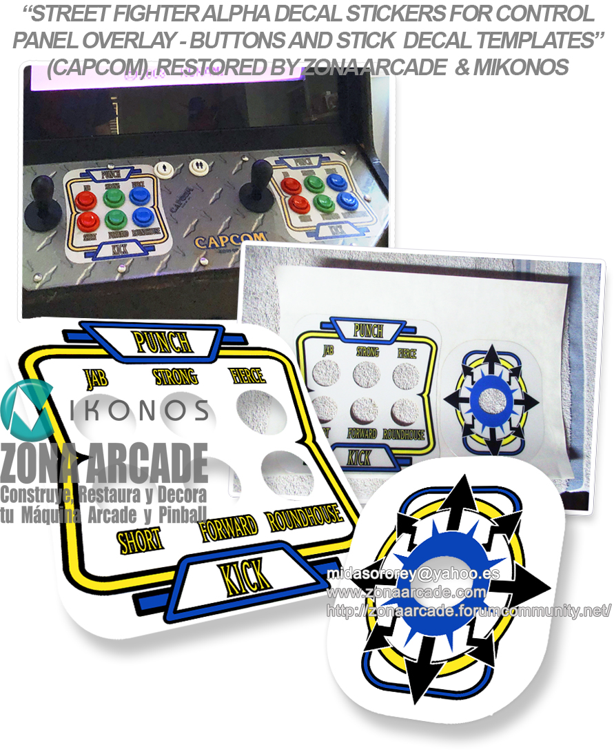 Street Fighter Alpha Decal Stickers For Control Panel Overlay