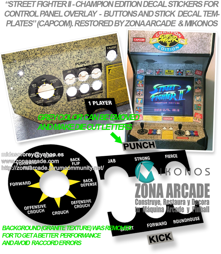 All Arcade Capcom Templates For Control Panel Stick And Buttons