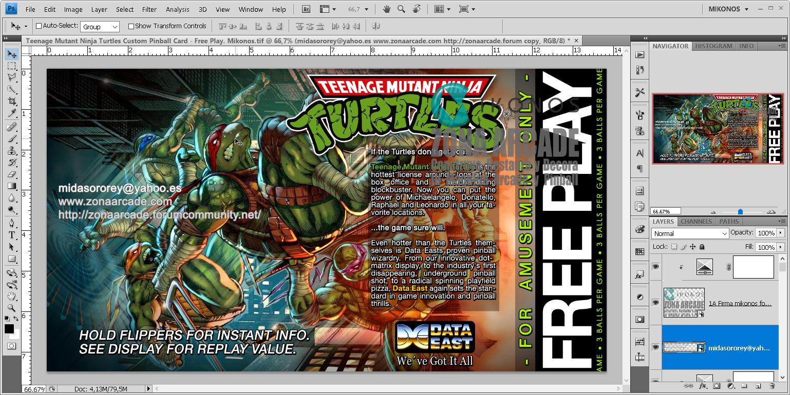 Teenage Mutant Ninja Turtles Pinball Card Customized - Free Play. Mikonos1