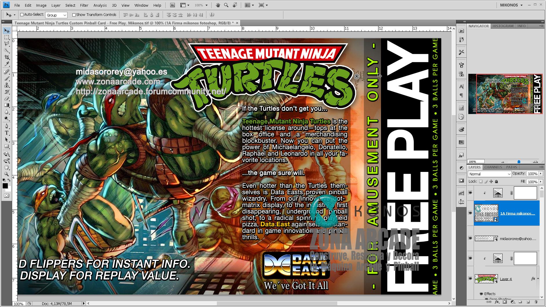 Teenage Mutant Ninja Turtles Pinball Card Customized - Free Play. Mikonos2