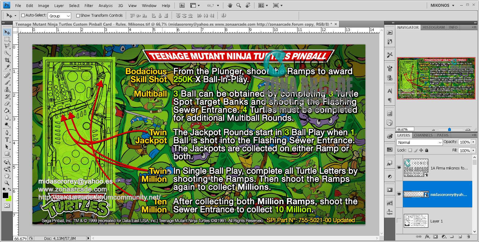 Teenage Mutant Ninja Turtles Pinball Card Customized - Rules. Mikonos1