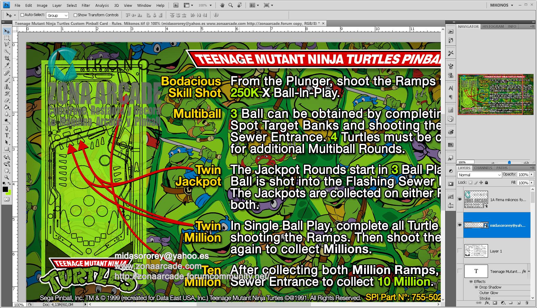 Teenage Mutant Ninja Turtles Pinball Card Customized - Rules. Mikonos2