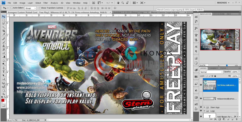 The Avengers Custom Pinball Card - Free Play.%20Mikonos1