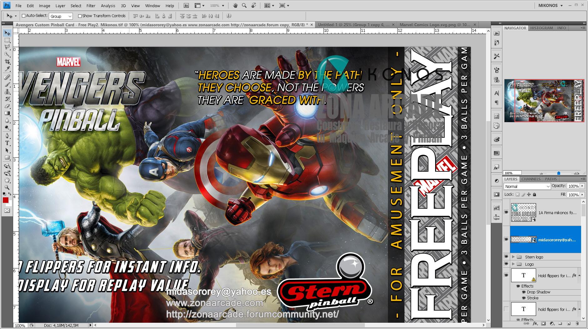 The Avengers Custom Pinball Card - Free Play.%20Mikonos2