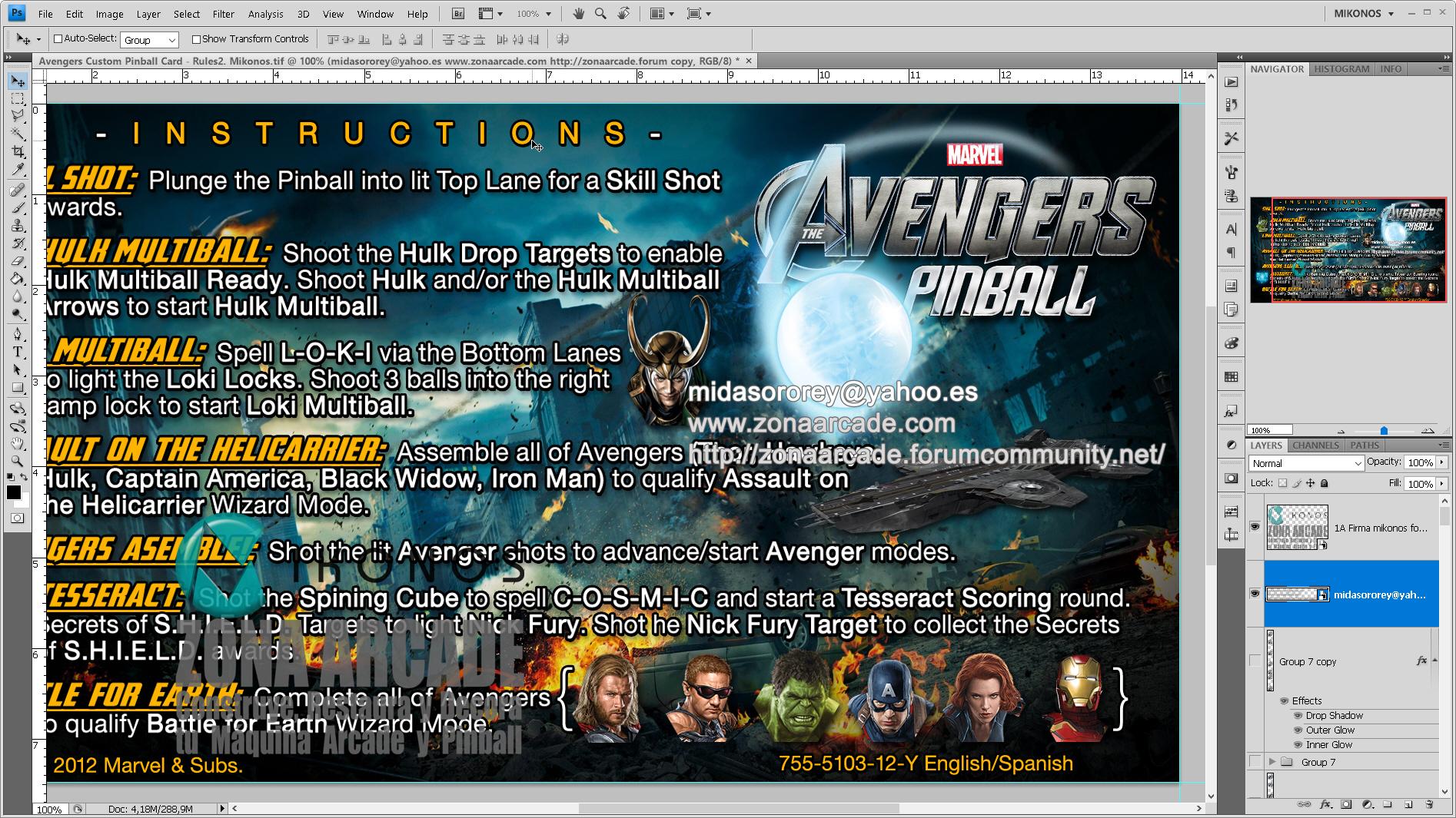 The Avengers Custom Pinball Card - Rules.%20Mikonos2