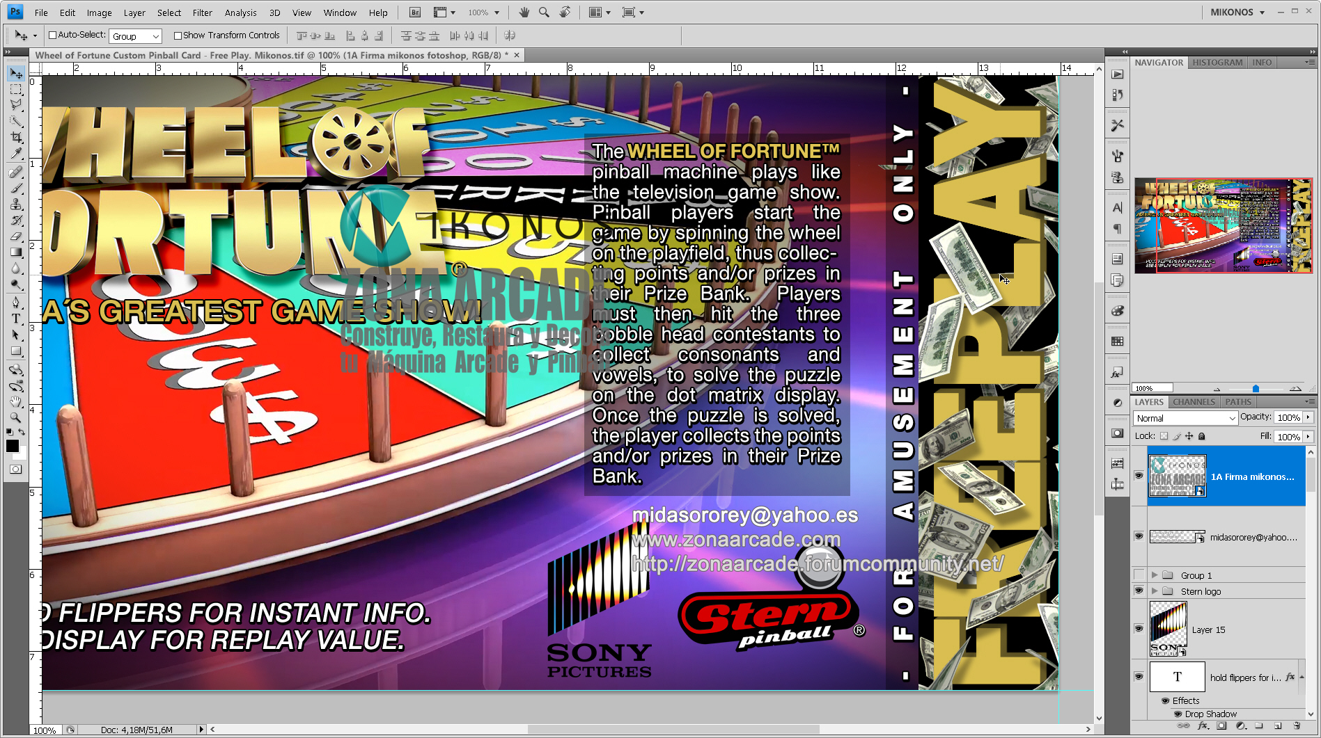 Wheel of Fortune Pinball Card Customized - Free Play. Mikonos1